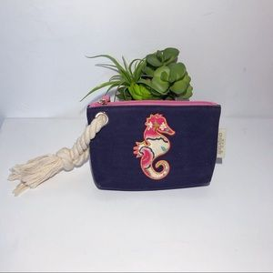 SPARTINA 449 SEAHORSE WRISTLET WITH ROPE HANDLE